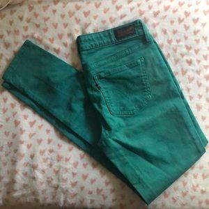 Levi's green 535 legging jeggings size 11M